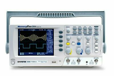 Instek Gds-1102a-u Digital Oscilloscope 2ch Wtft Color Lcd New