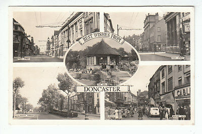 Doncaster High Street Baxter Gate South Parade The Dell c1956 Real Photograph