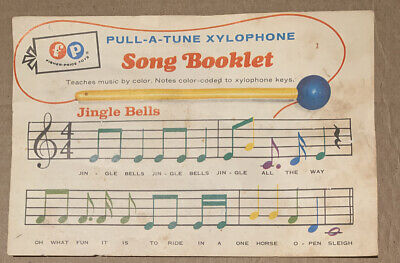 Vintage Fisher Price Pull-a-Tune Xylophone Song Booklet / Sheet