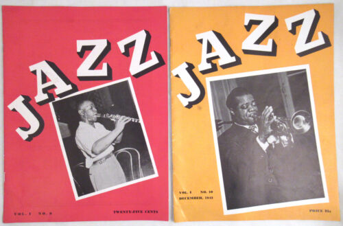 1943 Two Issues Jazz Magazine Louis Armstrong Satchmo
