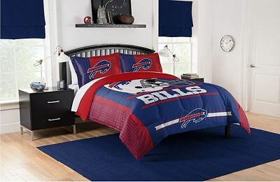 Buffalo Bills Bedding NFL Licensed 3PC Comforter Set Pillowcases Full Queen Size Buffalo Bills Nfl Bed
