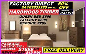 NEW Queen Bed Hardwood $699. RENT KEEP $8.10PW. Suite Available Ipswich Region Preview