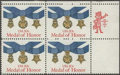 Scott # 2045 - ZIP Block Of 4 - Medal Of Honor -  MNH - 1983