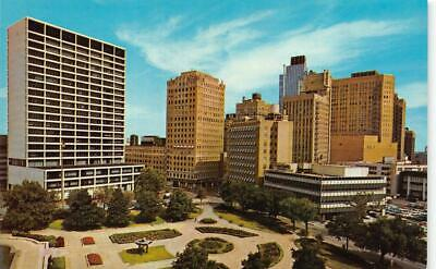FORT WORTH, TX Texas BURNETT PLAZA & PARK  Banks~Hotels~Stores  c1950's (Fort Worth Stores)