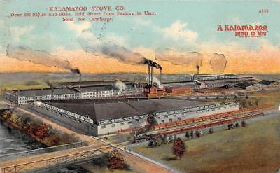 Used, KALAMAZOO STOVE COMPANY TRAIN  MICHIGAN ADVERTISING POSTCARD 1911 for sale  Marietta