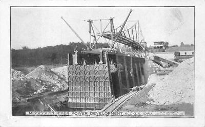 Mississippi River Power Development Keokuk Iowa Postcard  C  1910