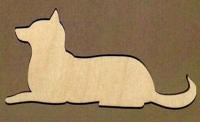 Huskey Dog (Siberian Huskey Dog Unfinished Wood Shape Cut Out S11267 Lindahl)