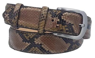 Cintura in Pitone 4 cm lucido unisex Foderata in pelle Bovina con fibbia
