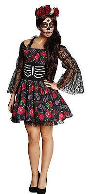 Calavera Catrina Damenkostüm NEU - Damen Karneval Fasching Verkleidung Kostüm