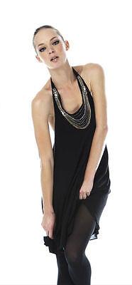 Alice + Olivia Chain Necklace Halter Dress  S 2 4 US (Chain Necklace Halter Dress)
