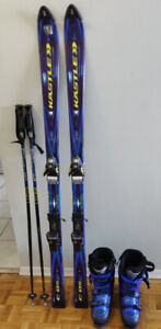 Ski set with bindings and boots - can be bought individually