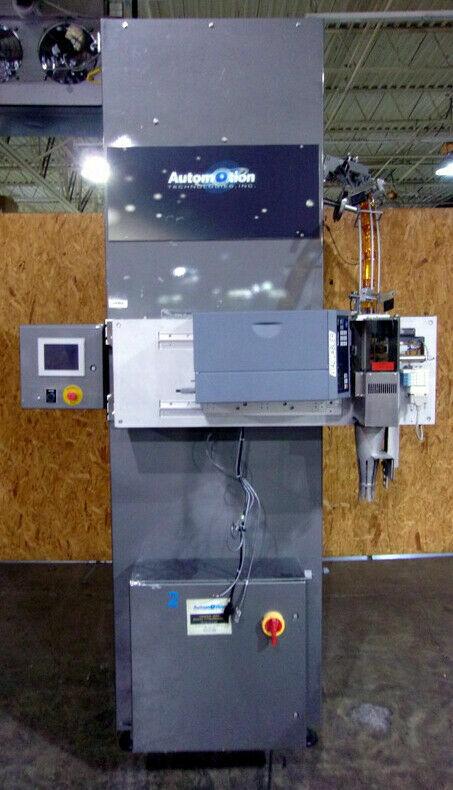 <>  AUTOMOTION TECHNOLOGIES MODEL SJF-4PFH PRESCRIPTION BOTTLE LABELER (2AMA)
