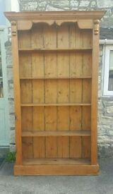Antique pine bookcase (free local delivery)