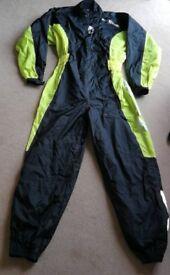 Richa Typhoon One Piece Over Rain Suit Waterproof Motorcycle Black Flo Yellow