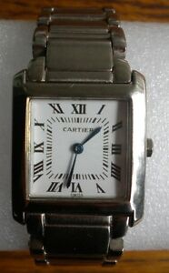 NICE CARTIER TANK WATCH NEW BATTERY