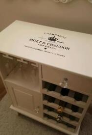 Moet and Chandon themed drinks cabinet