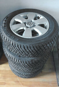 "Volkswagon - 23"" Winter Tires on Mags (4-bolt cross-pattern)"
