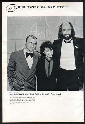 1984 Phil Collins Pat Benatar Mick Fleetwood JAPAN mag photo pinup /clipping b4m