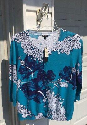 Женский свитер NWT Talbots Blue Floral