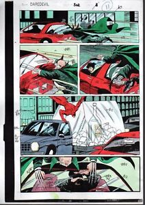 1992-Daredevil-302-page-11-Marvel-Comics-comic-book-color-guide-art-1990-039-s-Owl