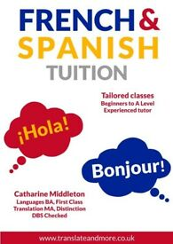 French and Spanish language tuition - from beginners up to A Level / B2 level