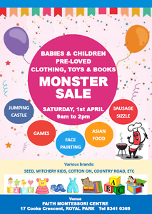 Babies and Children Pre-loved Clothing, Toys & Books Monster Sale Royal Park Charles Sturt Area Preview