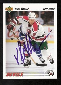 KIRK MULLER Autographed Hockey Card New Jersey Montreal