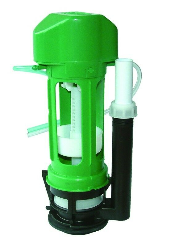 TD Green Toilet Flush Valve Pneumatic Air Push Toilet Syphon Dual Flush