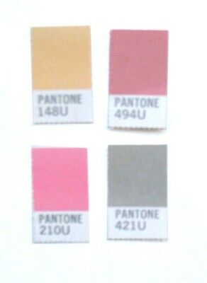 Vintage Pantone Color Sheets 20w Different Lengths