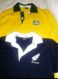 Cotton Traders kids rugby tops x2