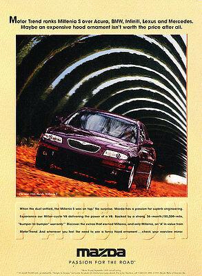 1996 Mazda Millenia - ranking - Vintage Advertisement Ad A29-B