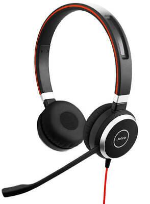 Jabra Evolve 40 MS USB + 3.5mm Jack Stereo Over Ear Headsets - BRAND NEW