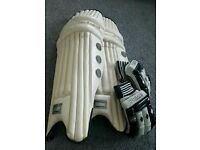 Boom Prime RH cricket pads & Gloves(youth or small mens)