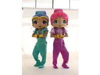 BRAND NEW Shimmer & Shine adult size fancy dress mascots £185 each
