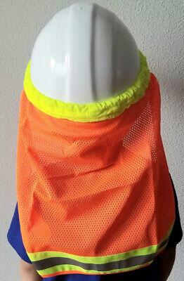 2pack Hard Hat Neck Shield Helmet Sun Shade Hi Vis Stripe