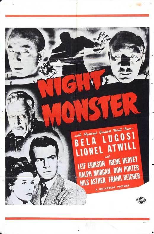 NIGHT MONSTER Movie POSTER 27x40