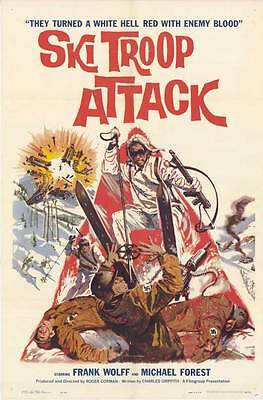 SKI TROOP ATTACK Movie POSTER 27x40 Michael Forest Frank Wolff Sheila Carol