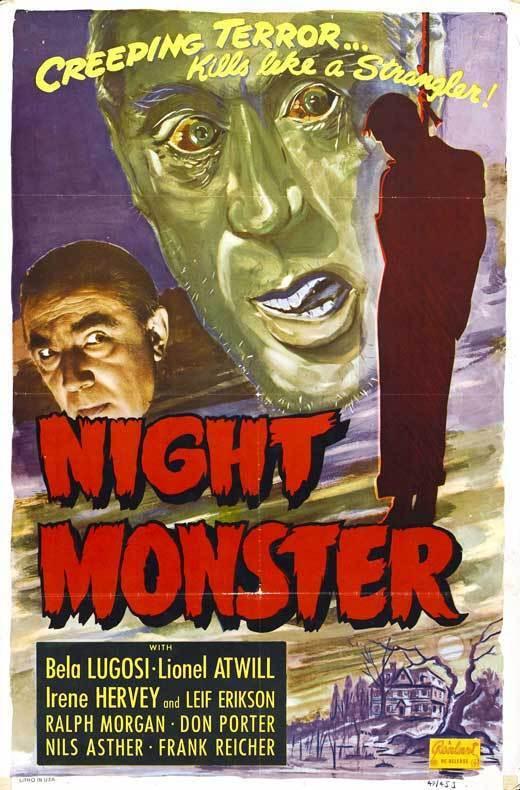 NIGHT MONSTER Movie POSTER 27x40 B