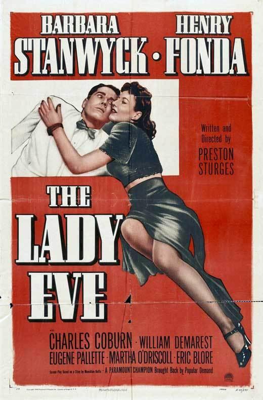 THE LADY EVE Movie POSTER 27x40 D Barbara Stanwyck Henry Fonda Charles Coburn