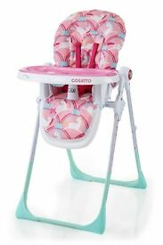 Cosatto high chair BNIB never opened pink unicorns