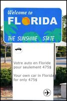 Votre auto vers la Floride ✈ Your own car to Florida