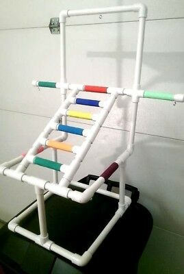 Deluxe Ladder Play Gym  Perch  Stand **  Birds Love Them** FREE SHIPPING!