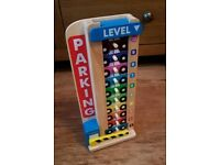 Melissa and doug stack and count wooden cars garage toy