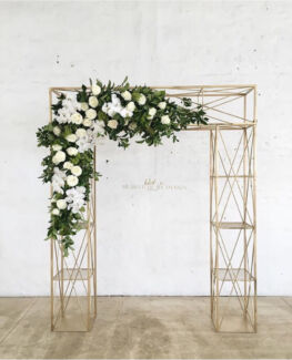 Unique Gold Wedding Arbor Arch