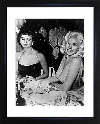 Jayne Mansfield And Sophia Loren Framed Photo CP0224