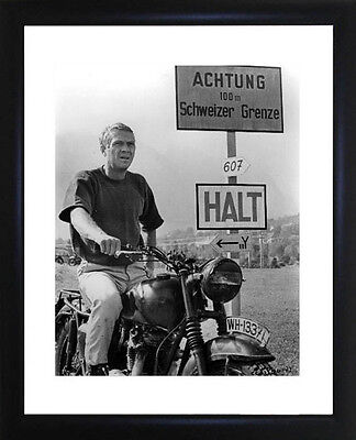 Steve McQueen Great Escape Framed Photo CP0463