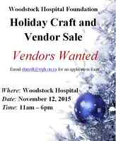 Holiday Craft Sale Vendors Wanted