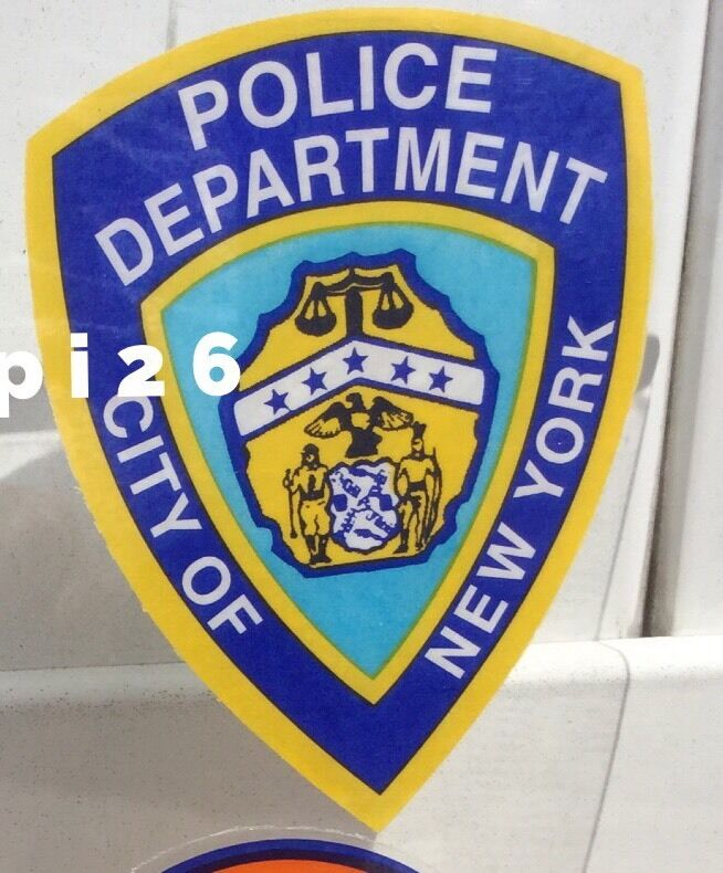 NYPD City Of NY Police OFFICIAL In/Window FACES/OUT Decal Sticker *Last Qty