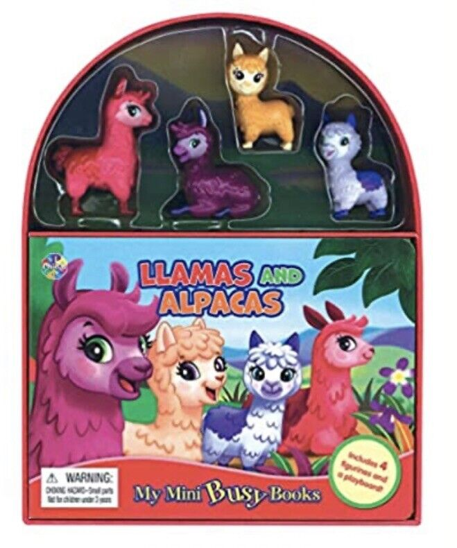 Llamas and Alpacas My Mini Busy Book BRAND NEW With 4 Figurines!