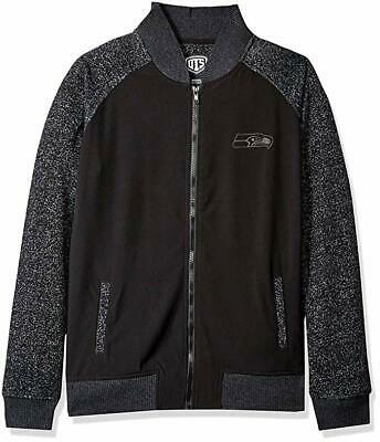 Seattle Seahawks Full Zip Black & Heather Gray Track Jacket, Women's M NFL for sale  Hamburg
